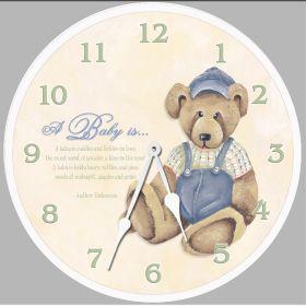 Baby Bear Round Clock