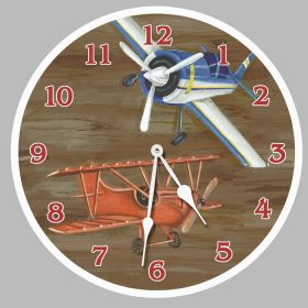 Airplanes Round Clock