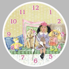 Izzy & Friends Round Clock