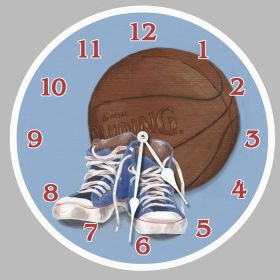 Hoops Round Clock