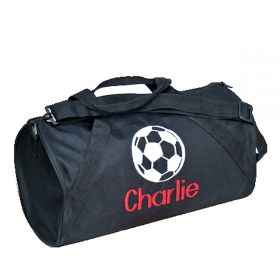 Children's Personalized Duffle Bag in Black