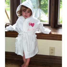 Hooded Bathrobes Personalized with Name and Design