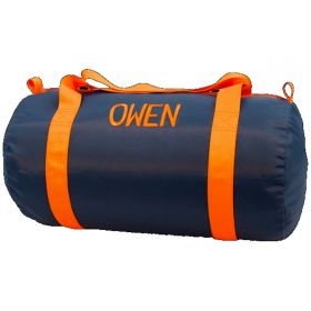 Children's Personalized Duffle Bag in Navy & Orange