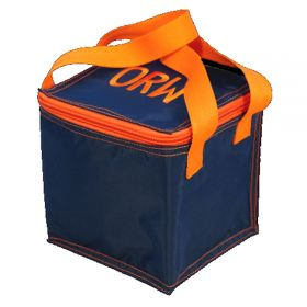 Children's Personalized Mini Lunch Box in Navy & Orange