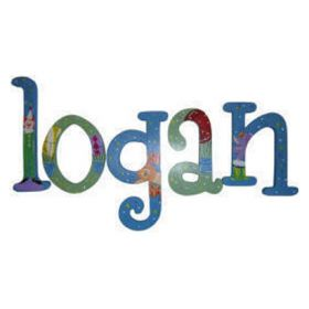Logan Big Top Hand Painted Wooden Wall Letters
