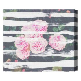 Blooming Strokes Canvas Wall Art