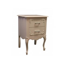 Country French 2 Drawer Nightstand