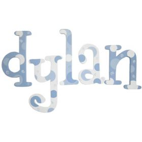 Dylan Blue Dots Hand Painted Wooden Wall Letters