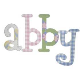 Abby Gingham Hand Painted Wooden Wall Letters