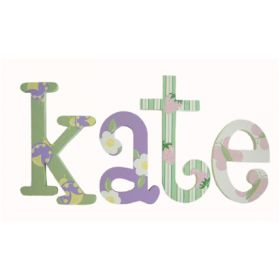 Kate Garden Hand Painted Wooden Wall Letters