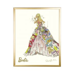 Barbie Limited Edition Generation of Dreams Gold Framed Print