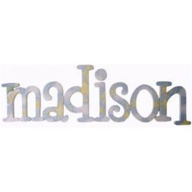 Madison Night Night Hand Painted Wooden Wall Letters