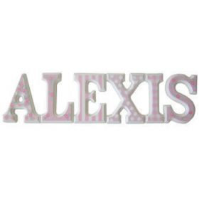 Alexis Pretty Pink Hand Painted Wooden Wall Letters