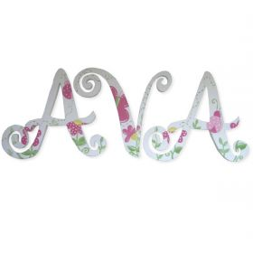 Ava Flower Garden Hand Painted Wooden Wall Letters