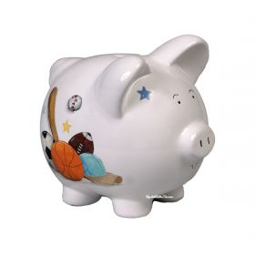 Sports Handpainted Piggy Bank
