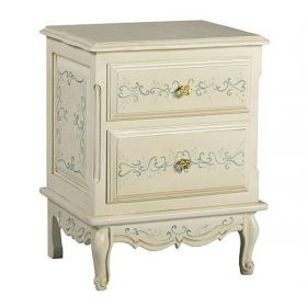 French Bordeaux Toile Night Table