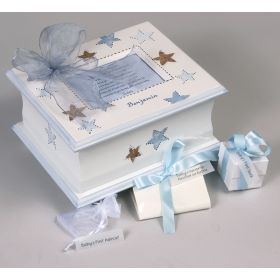 Memory Handpainted Keepsake Box with Stars