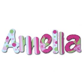 Amelia Rose Hand Painted Wooden Wall Letters