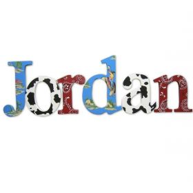 Jordan Back at the Range Hand Painted Wooden Wall Letters