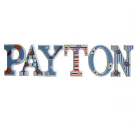 Payton Sports Wooden Hand Painted Wall Letters