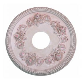 Pink Rose Jeweled Ceiling Medallion