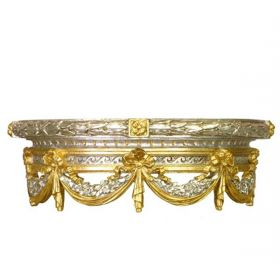 Bed Crown Silver with Gold Gilding