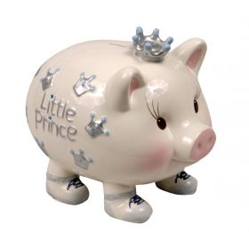 Giant Prince Handpainted Piggy Bank