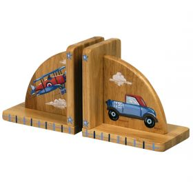 Transportation Handpainted Bookends
