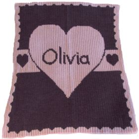 Heart with Banner Blanket with Name