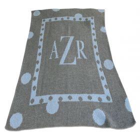 Large Polka Dot Blanket with Monogram