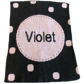 Perforated Circle Blanket with Name