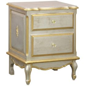 French Night Table Silver & Gold Gilding