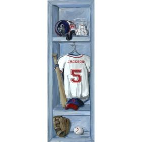 Baseball Locker Canvas Reproduction