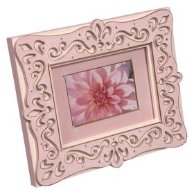Pink Handpainted Wooden Bling Picture Frame