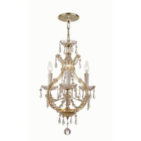 Polished Chrome Steel Small Chandelier with Swarovski Spectra Crystals