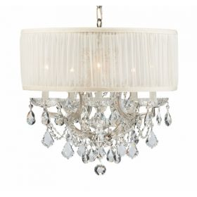 Polished Chrome Steel Chandelier with Swarovski Spectra Crystals