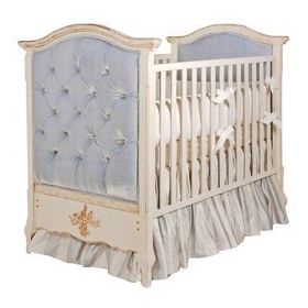 French Panel Upholstered Crib