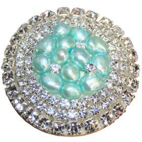 Aqua Glamour Drawer Knobs