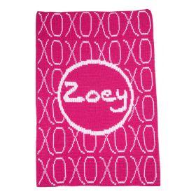 XOXO Stroller Blanket with Name