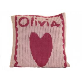 Heart Pillow with Name