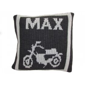 Motorcycle Pillow with Name
