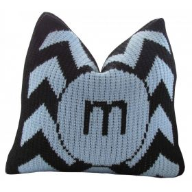 Chevron Pillow with Single Initial