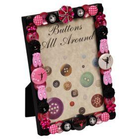 Ballerina Button All Around Vertical Picture Frame
