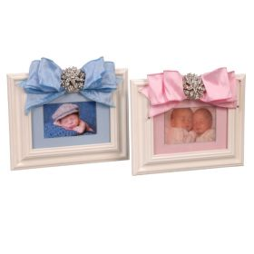 Twin Boy and Girl Picture Frames with Brooch