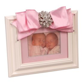 Baby Girl Picture Frame with Brooch