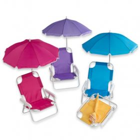 Childs Beach Chair with Umbrella Personalized with Name
