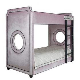 Gramercy Porthole Upholstered Bunkbed Twin Over Twin