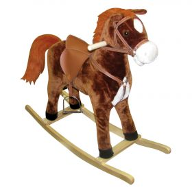 Hercules Large Rocking Horse with Moving Mouth & Tail