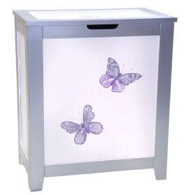 Purple Handpainted Hamper with Butterflies