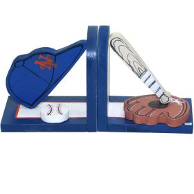 New York Mets Sports Handpainted Bookends